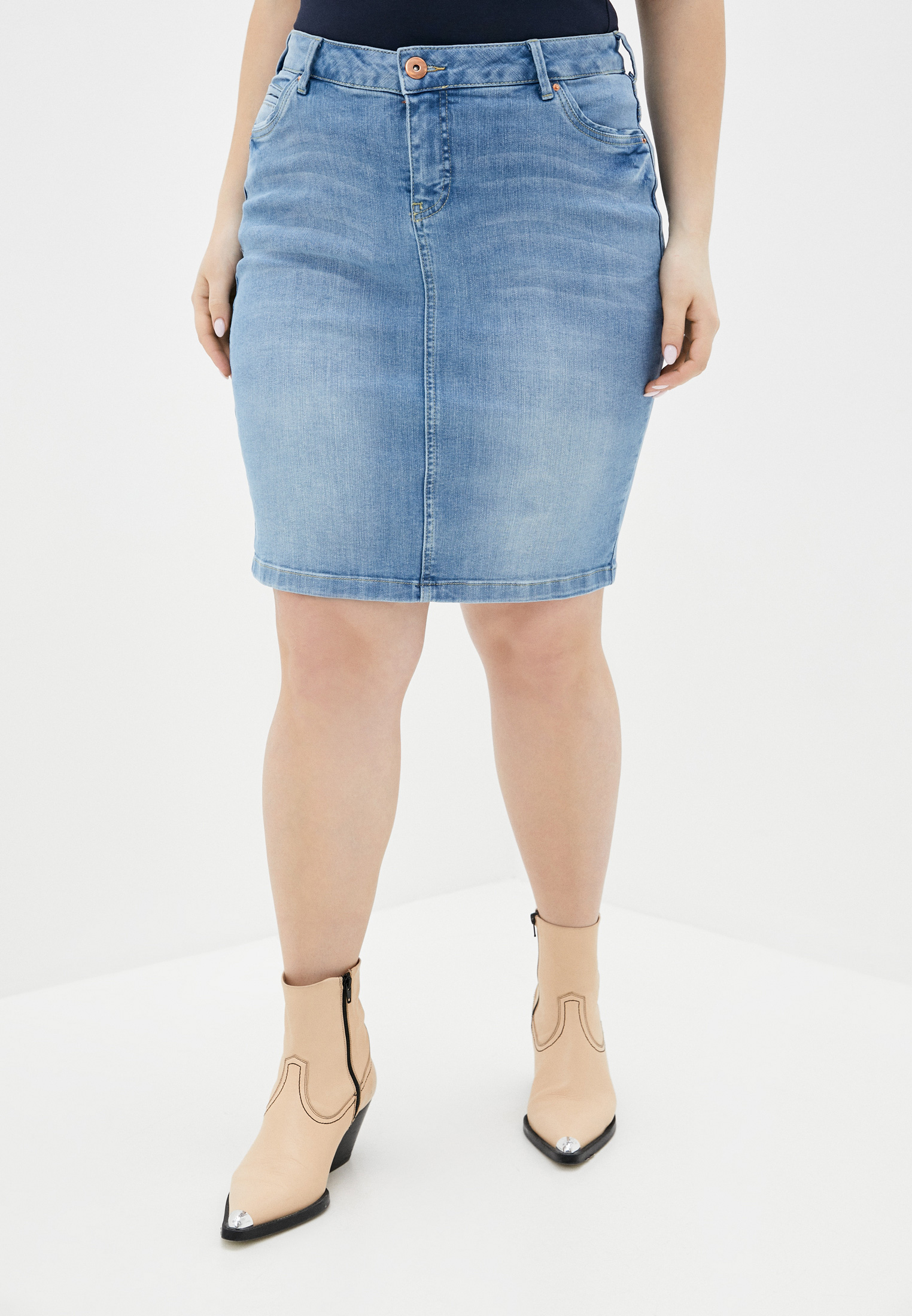 Джинсовая юбка Zizzi J99366B