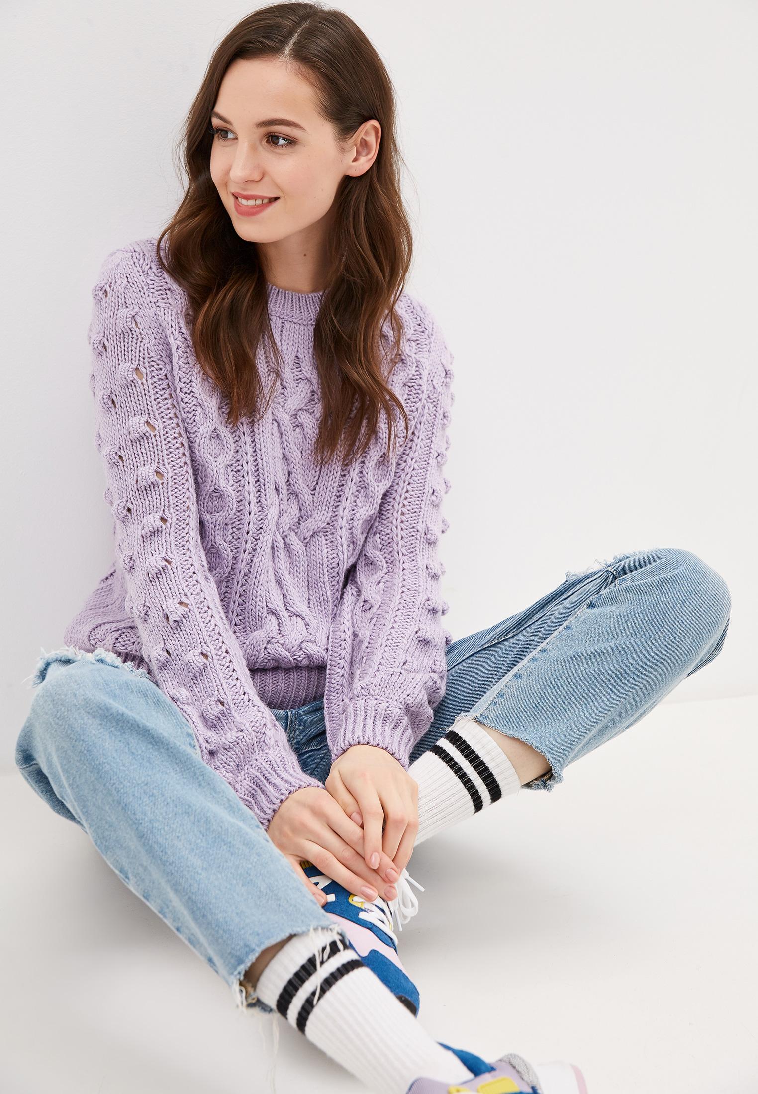 Джемпер, Baon, цвет: фиолетовый. Артикул: BA007EWFZFA2. Одежда / Джемперы, свитеры и кардиганы