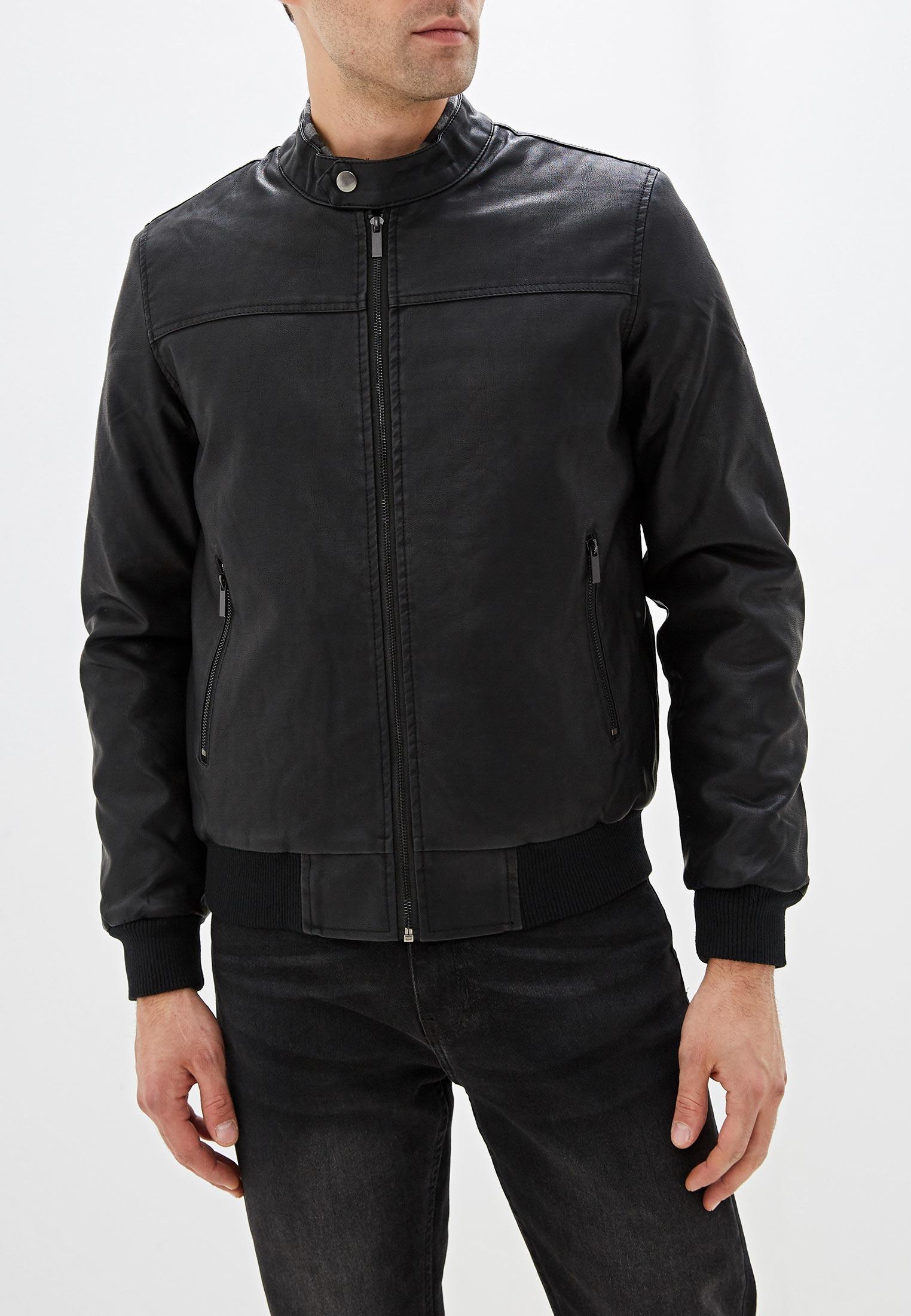 Куртка кожаная, B.Men, цвет: черный. Артикул: BM001EMGTVY1. Одежда / Верхняя одежда / Кожаные куртки