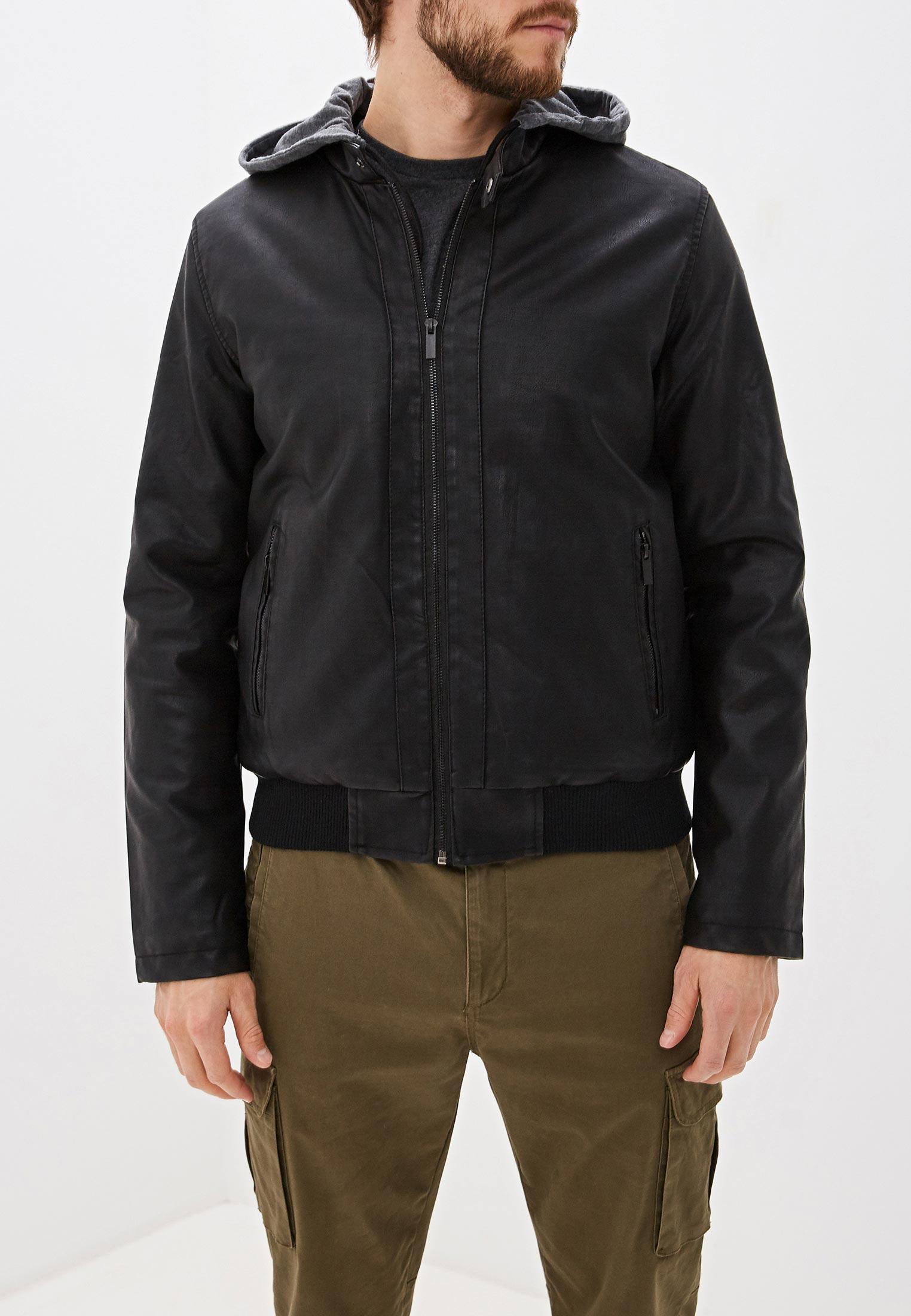 Куртка кожаная, B.Men, цвет: черный. Артикул: BM001EMGTVY2. Одежда / Верхняя одежда / Кожаные куртки