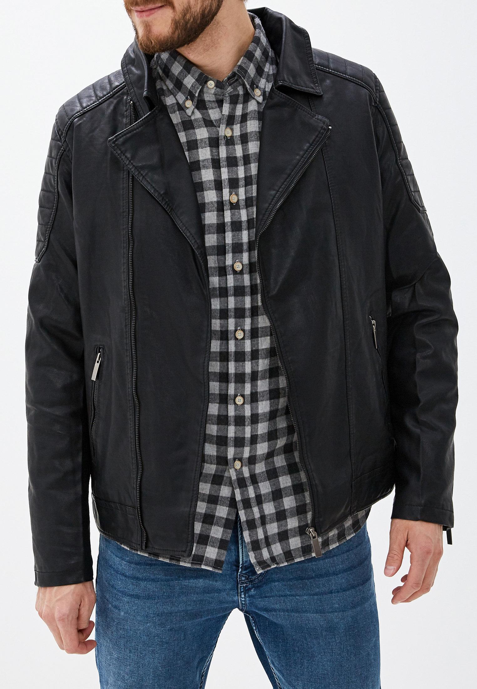 Куртка кожаная, B.Men, цвет: черный. Артикул: BM001EMGTWB5. Одежда / Верхняя одежда / Кожаные куртки