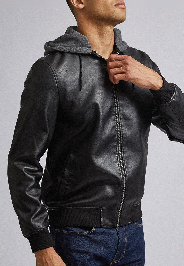 Куртка кожаная, Burton Menswear London, цвет: черный. Артикул: BU014EMGKDV3. Одежда / Верхняя одежда / Кожаные куртки