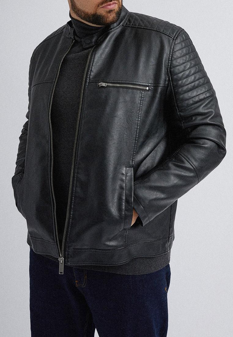 Куртка кожаная, Burton Menswear London, цвет: черный. Артикул: BU014EMGKEA0. Одежда / Верхняя одежда / Кожаные куртки