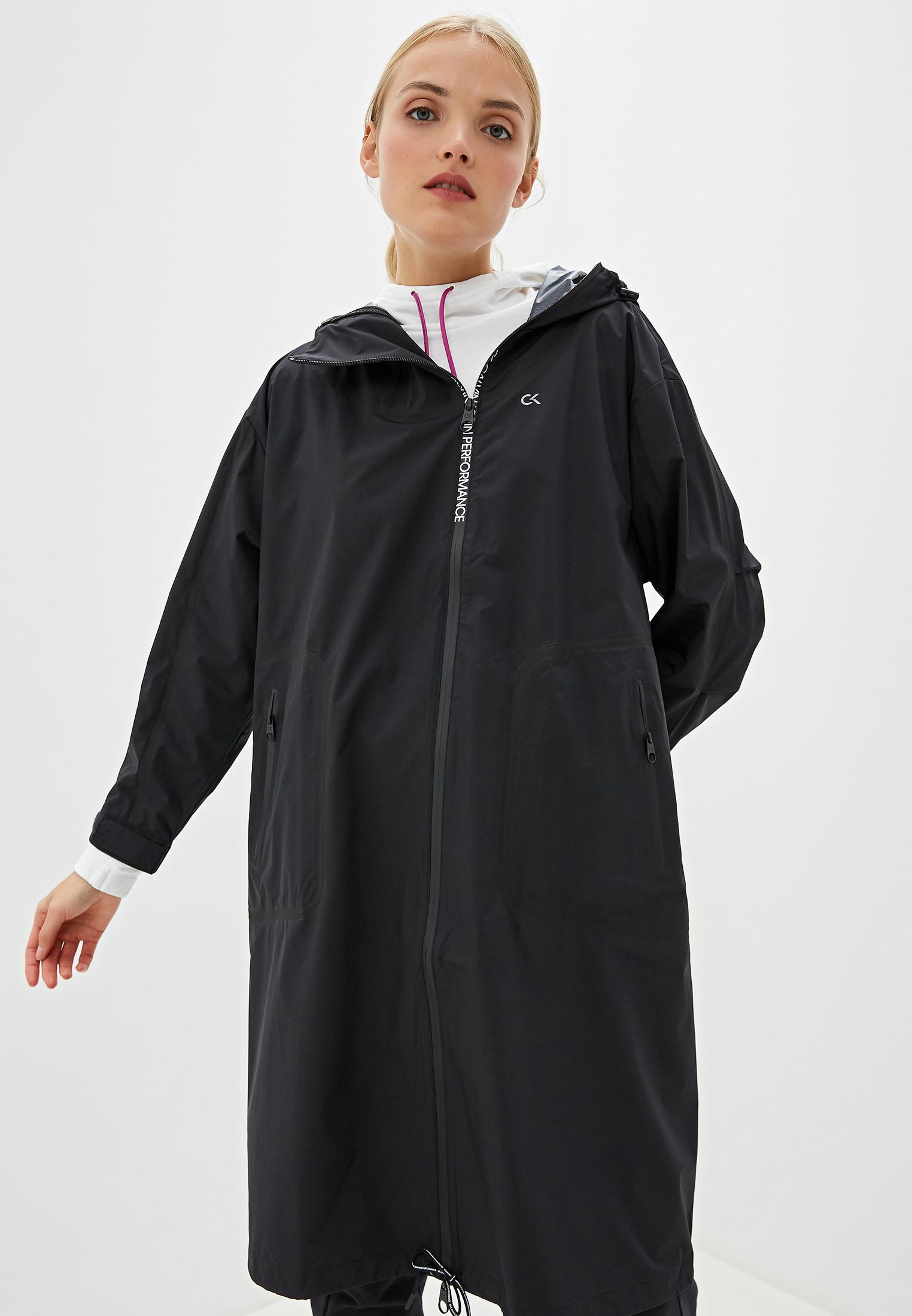 Плащ, Calvin Klein Performance, цвет: черный. Артикул: CA102EWGIUS4. Одежда
