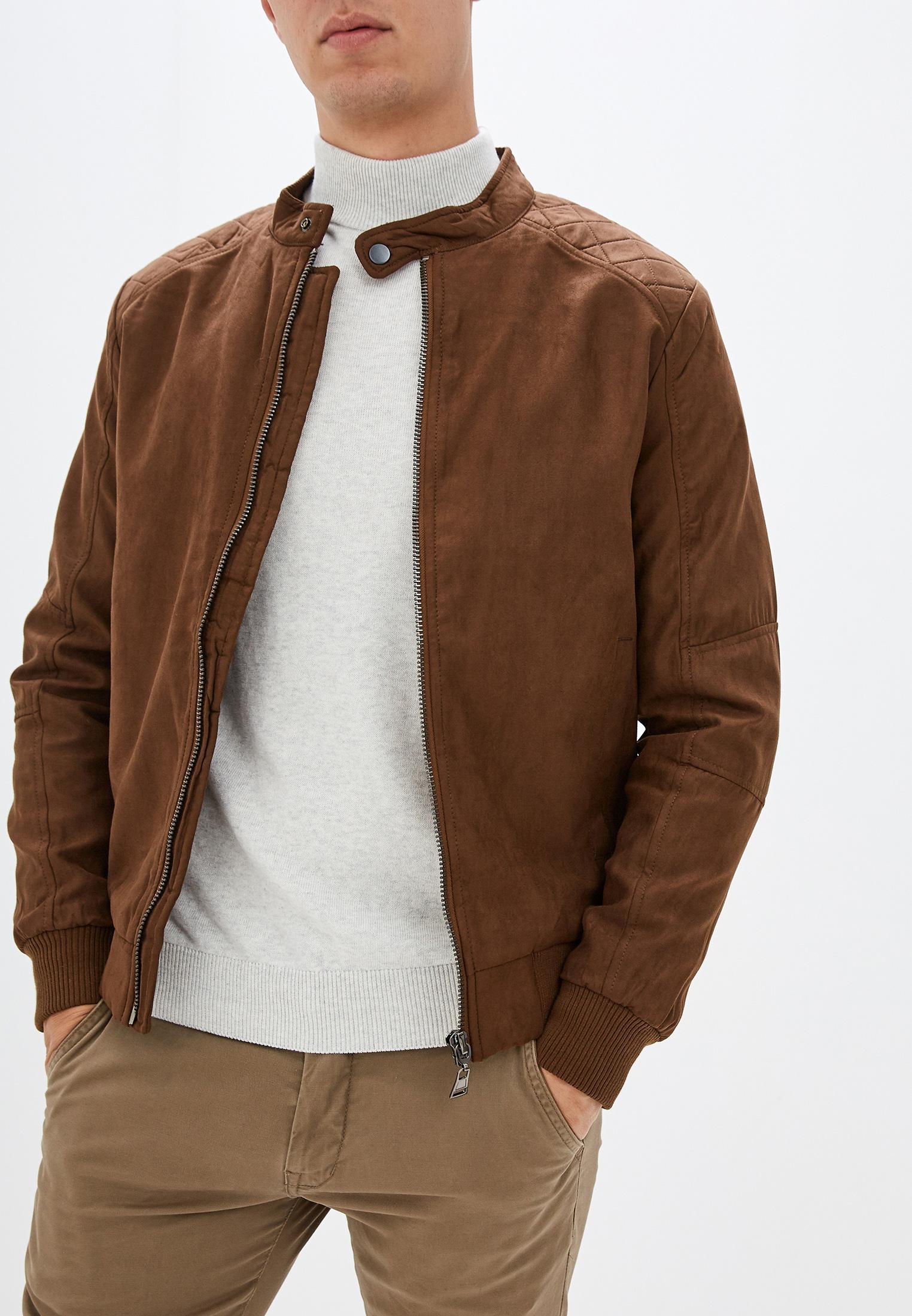 Куртка кожаная, Tony Backer, цвет: коричневый. Артикул: CH036EMGRWU1. Одежда / Верхняя одежда / Кожаные куртки