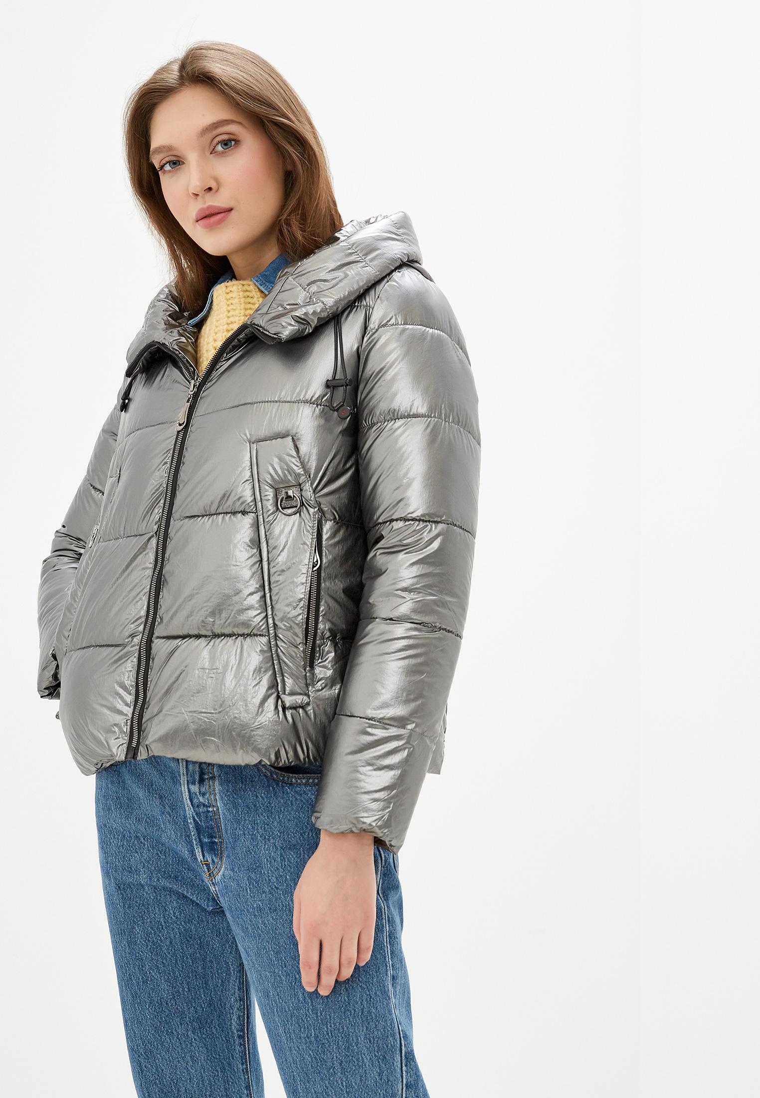 Куртка утепленная, Diora.rim, цвет: серебряный. Артикул: DI048EWHIYQ4. Одежда / Верхняя одежда