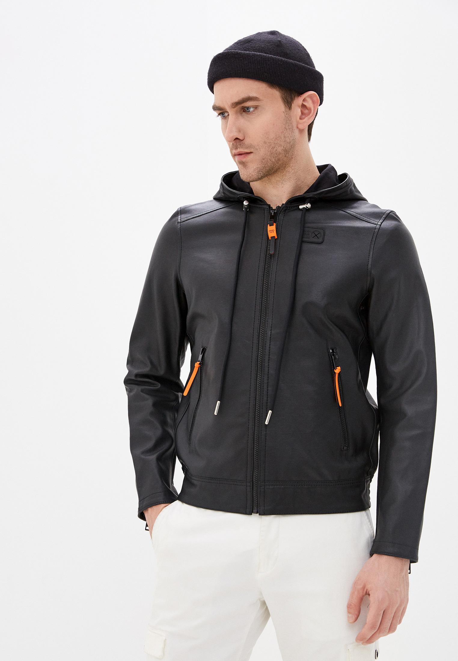 Куртка кожаная Diesel  купить за 29 810 ₽ в интернет-магазине Lamoda.ru