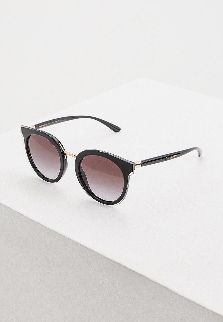 Очки солнцезащитные Dolce&Gabbana 0DG4371 53838G за 17 800 ₽. в интернет-магазине Lamoda.ru
