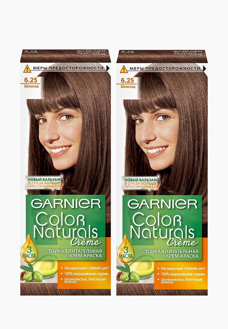 """Garnier Краска для волос """"Color Naturals"""", оттенок 6.25, Шоколад, 2 шт"""