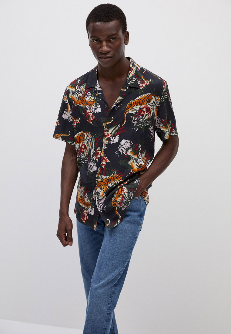 Рубашка Mango Man - TIGER за 1 999 ₽. в интернет-магазине Lamoda.ru