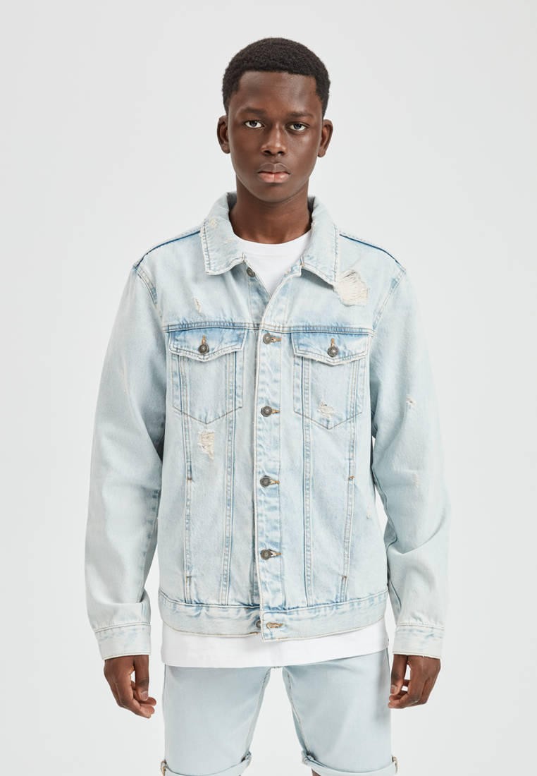 Куртка джинсовая Pull&Bear за 2 299 ₽. в интернет-магазине Lamoda.ru