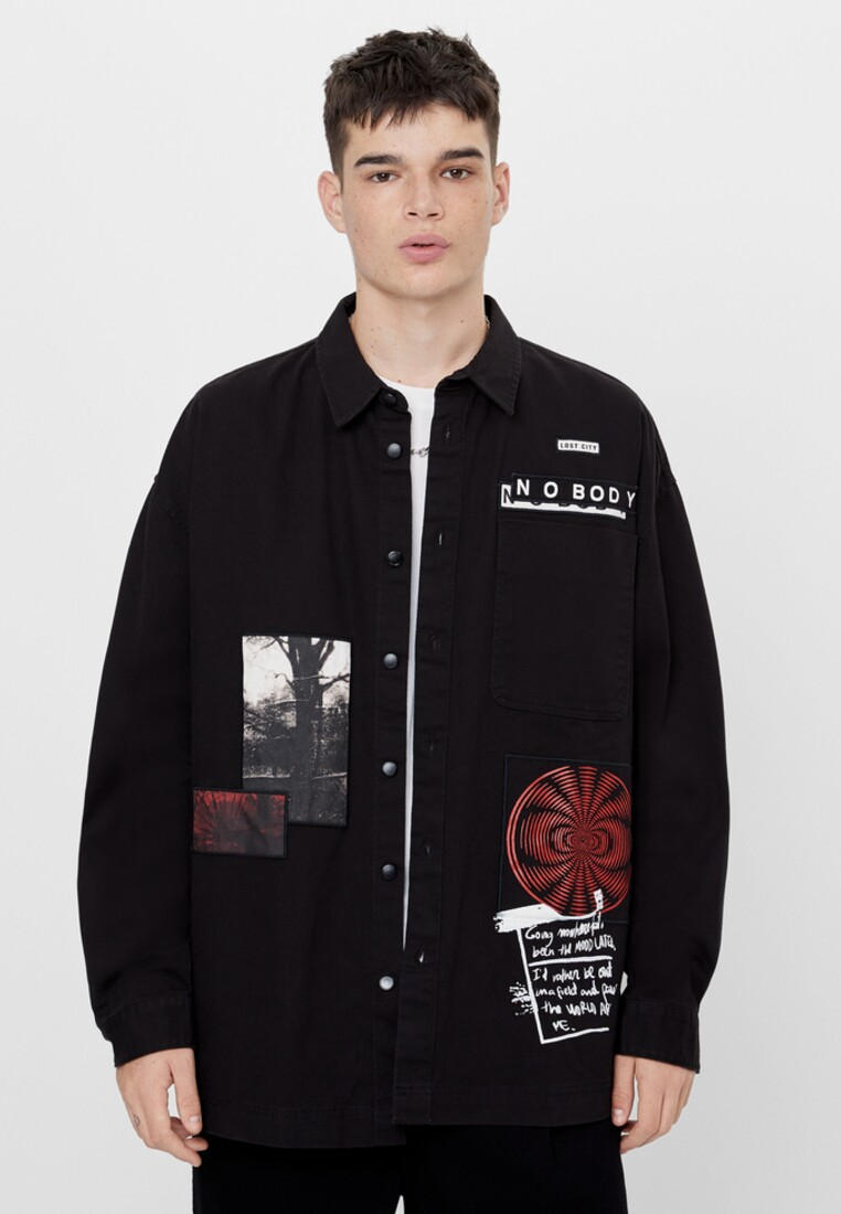 Рубашка Bershka за 2 999 ₽. в интернет-магазине Lamoda.ru