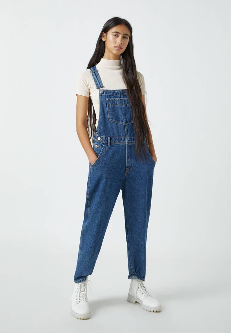 Комбинезон джинсовый Pull&Bear за 3 299 ₽. в интернет-магазине Lamoda.ru