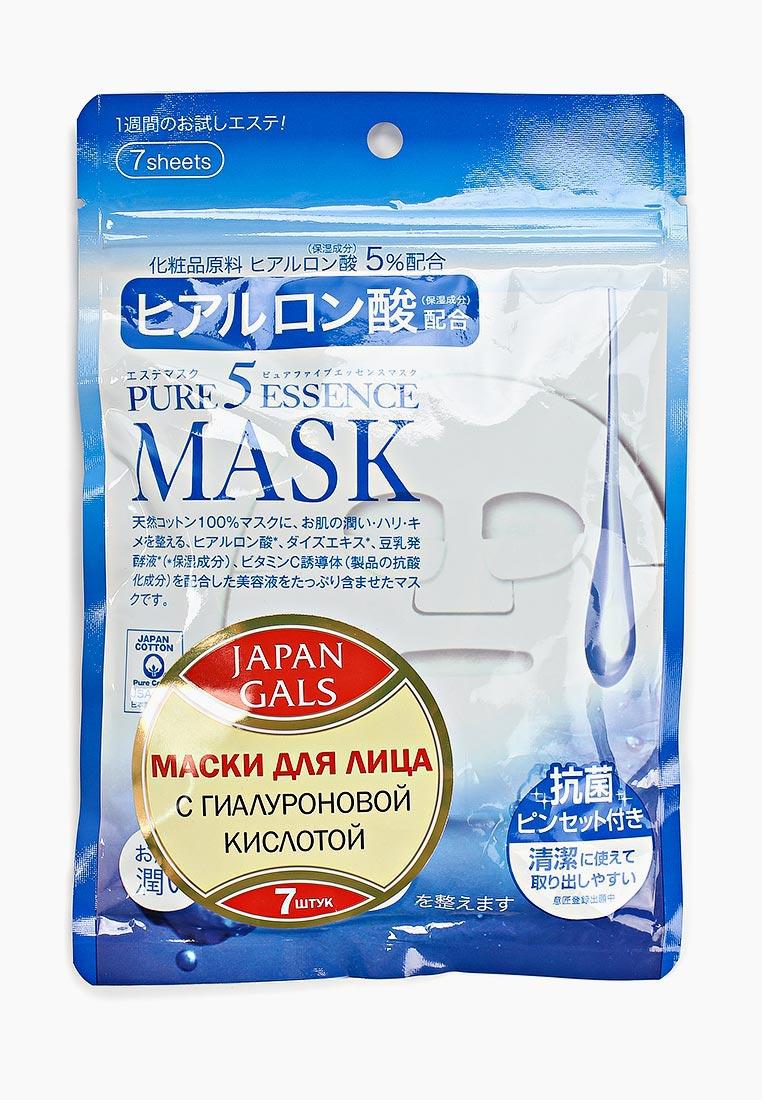 Japan Gals Набор масок для лица Маска с гиалуроновой кислотой Pure5 Essential 7 шт