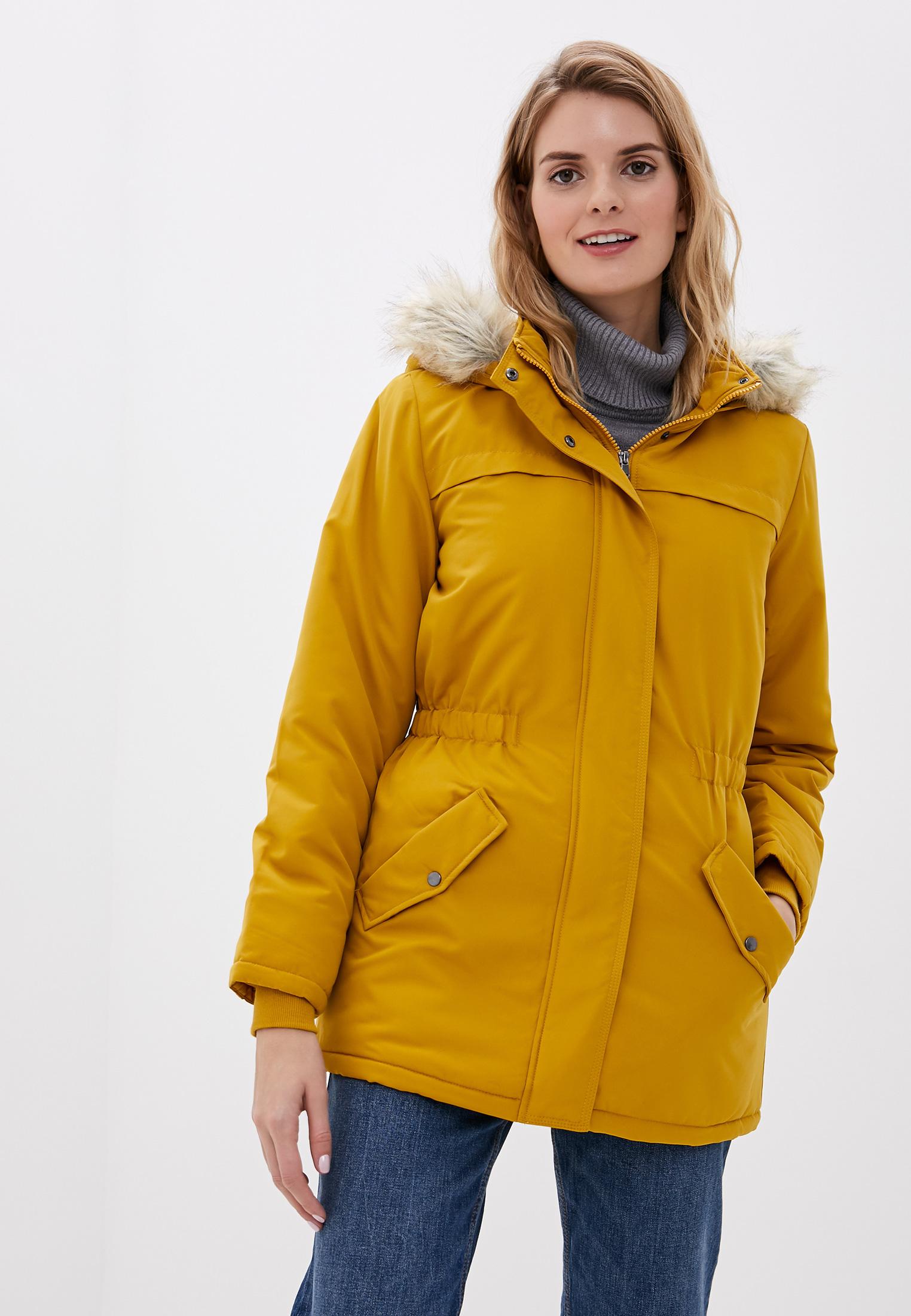Парка, Jacqueline de Yong, цвет: желтый. Артикул: JA908EWFKIL3. Одежда / Верхняя одежда / Парки