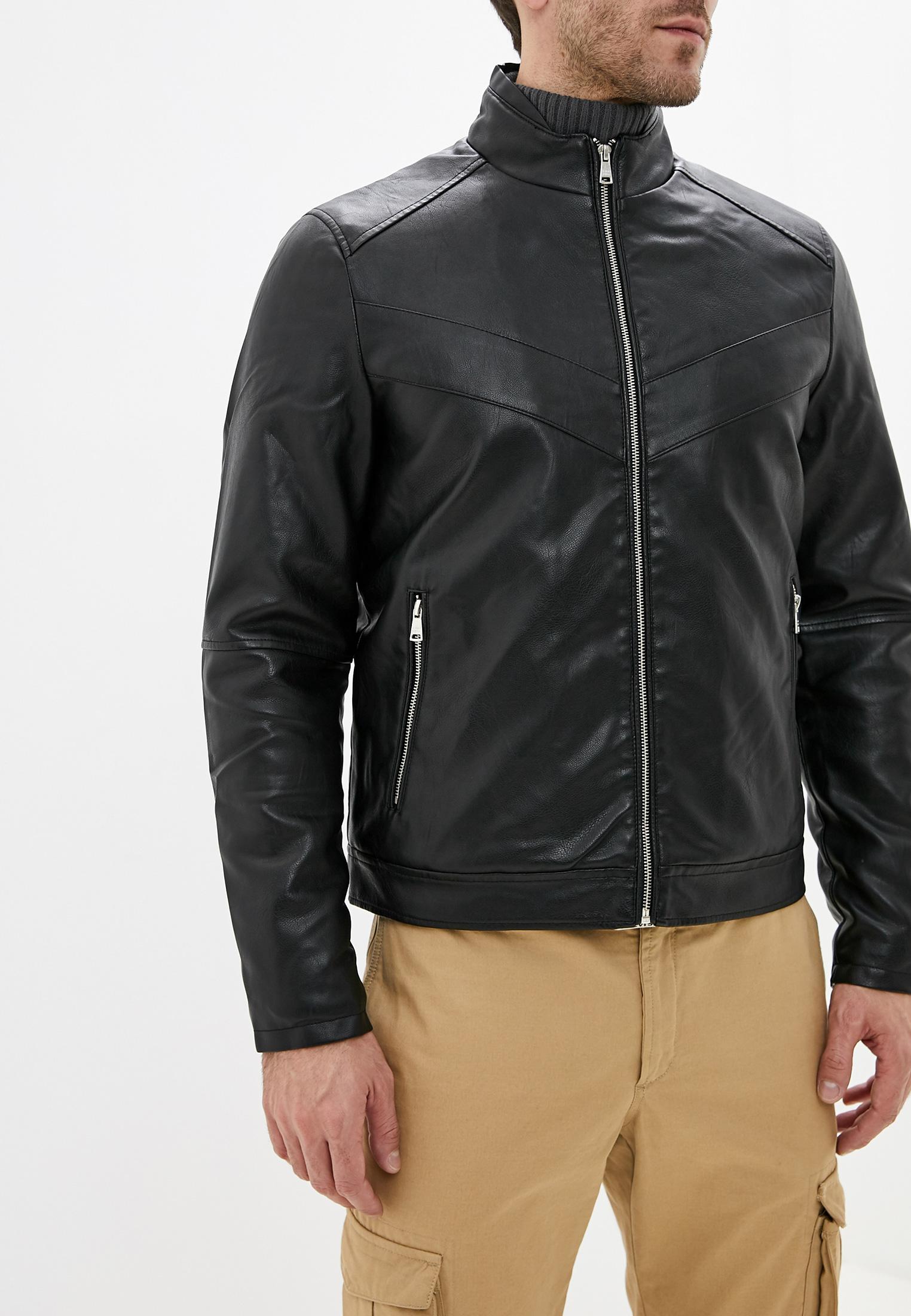 Куртка кожаная, J. Hart & Bros, цвет: черный. Артикул: JH001EMGKSJ2. Одежда / Верхняя одежда / Кожаные куртки