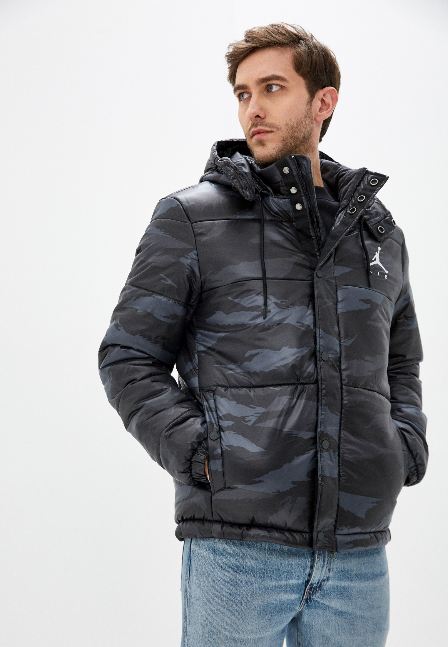 Jordan Куртка утепленная M J JUMPMAN AIR PFR JKT CAMO