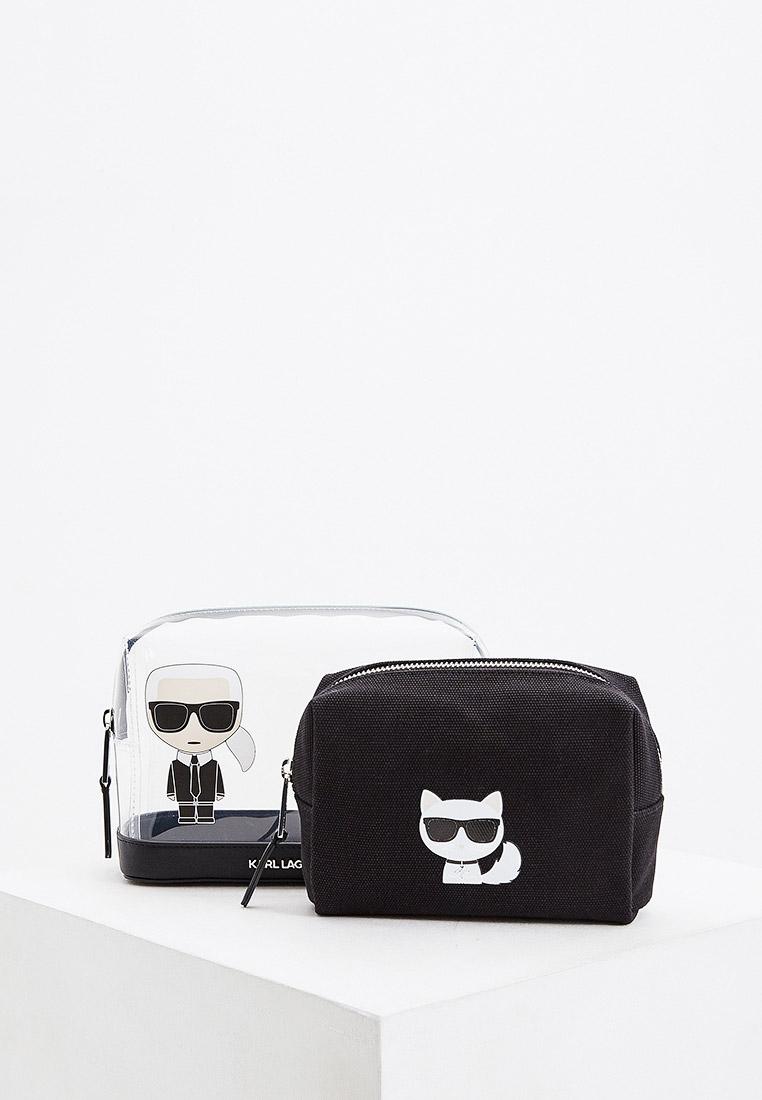 Комплект Karl Lagerfeld косметичек с логотипом IKONIK за 5 040 ₽. в интернет-магазине Lamoda.ru
