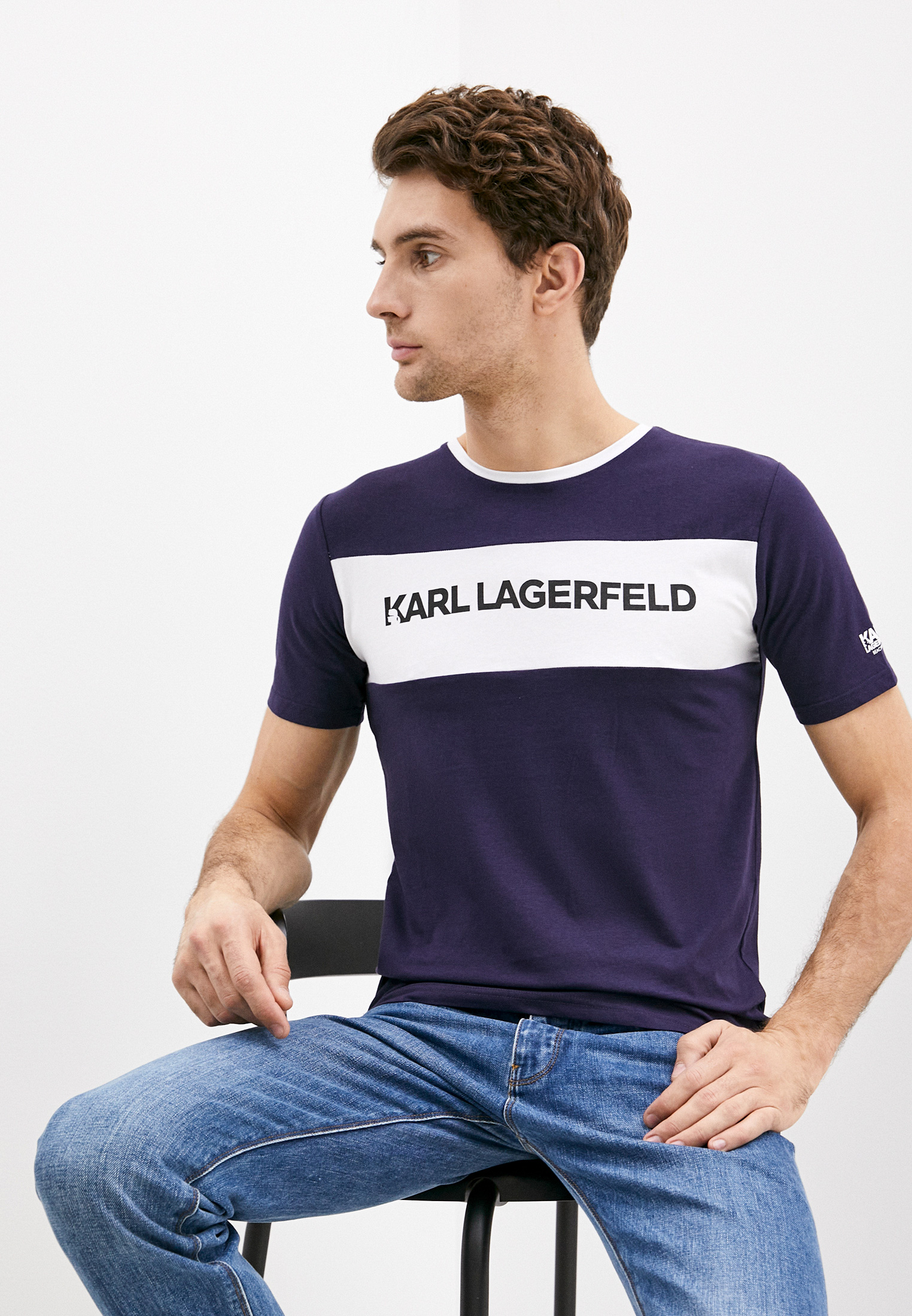 Футболка Karl Lagerfeld за 4 949 ₽. в интернет-магазине Lamoda.ru