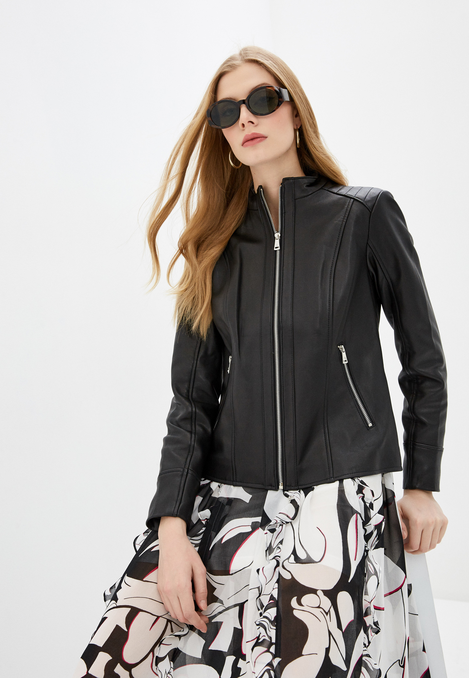 Куртка кожаная Lauren Ralph Lauren  за 25 200 ₽. в интернет-магазине Lamoda.ru