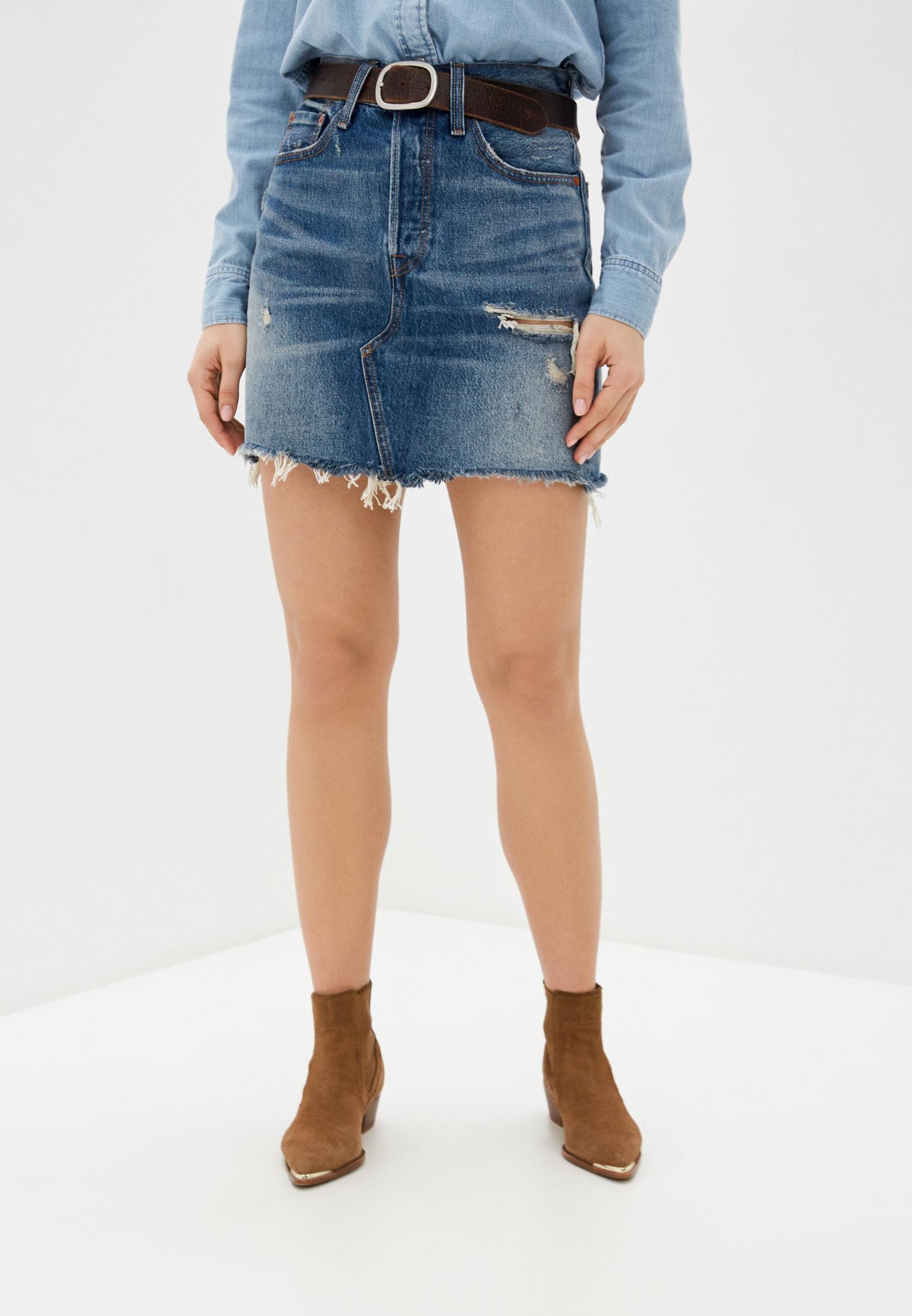 Короткие джинсовые юбки модели фото