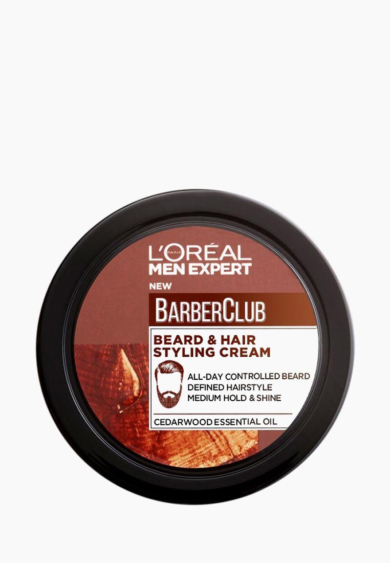L'Oreal Paris Крем для укладки Men Expert Barber Club для Бороды + Волос, с маслом кедрового дерева, 75 мл