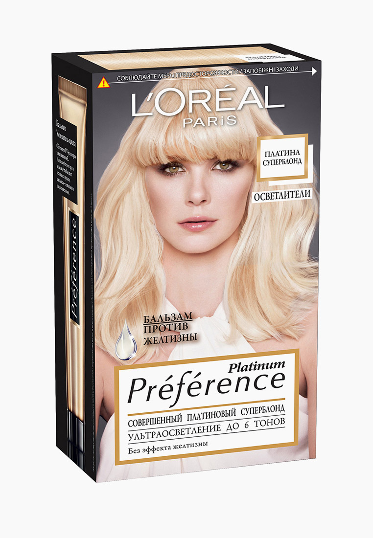 "L'Oreal Paris Краска для волос ""Preference, Платина Суперблонд "", 6 тонов осветления"