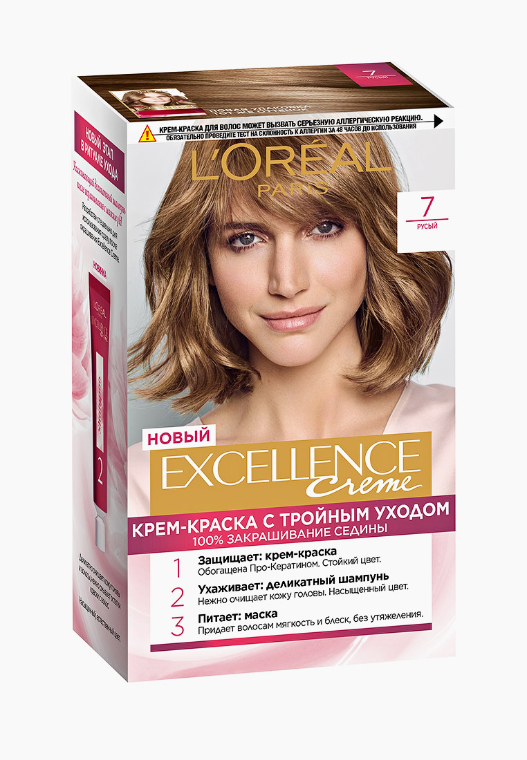 """L'Oreal Paris Краска для волос """"Excellence"""", оттенок 7, Русый"""
