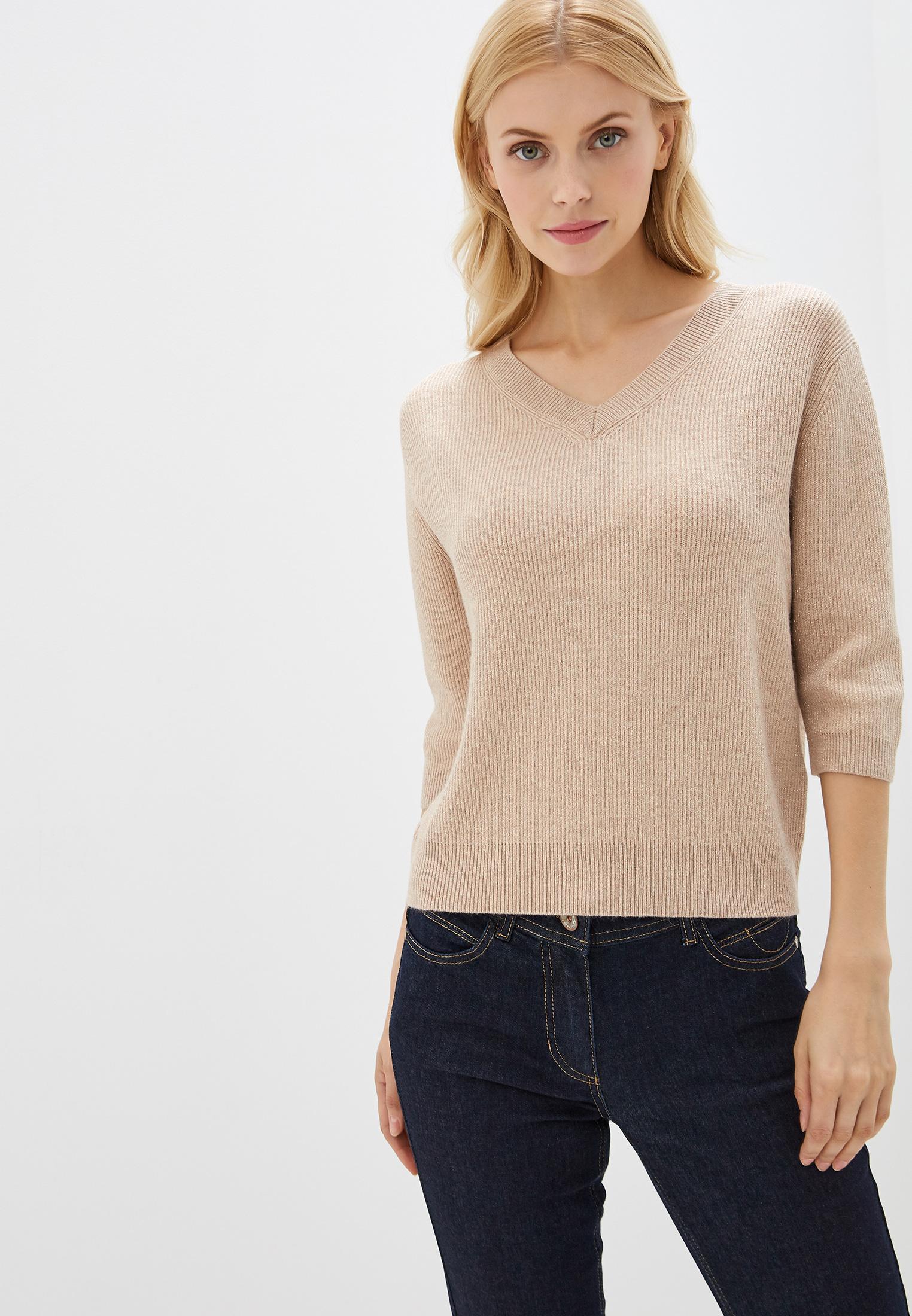 Пуловер, Lusio, цвет: бежевый. Артикул: LU018EWGRFS7. Одежда / Джемперы, свитеры и кардиганы