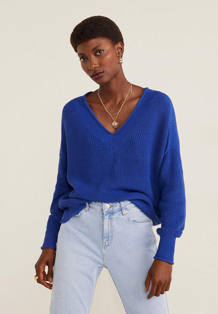 Пуловер, Mango, цвет: синий. Артикул: MA002EWGACV0. Одежда / Джемперы, свитеры и кардиганы