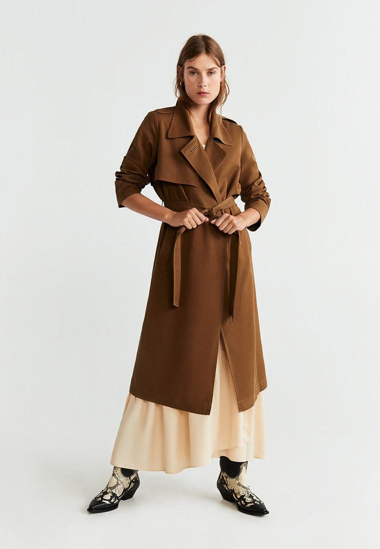 Плащ, Mango, цвет: коричневый. Артикул: MA002EWGDGN8. Одежда