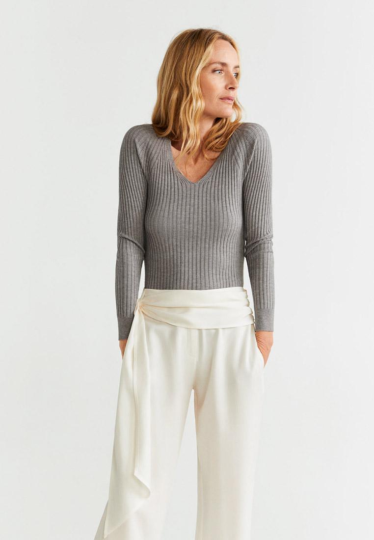 Пуловер, Mango, цвет: серый. Артикул: MA002EWGFCP5. Одежда / Джемперы, свитеры и кардиганы
