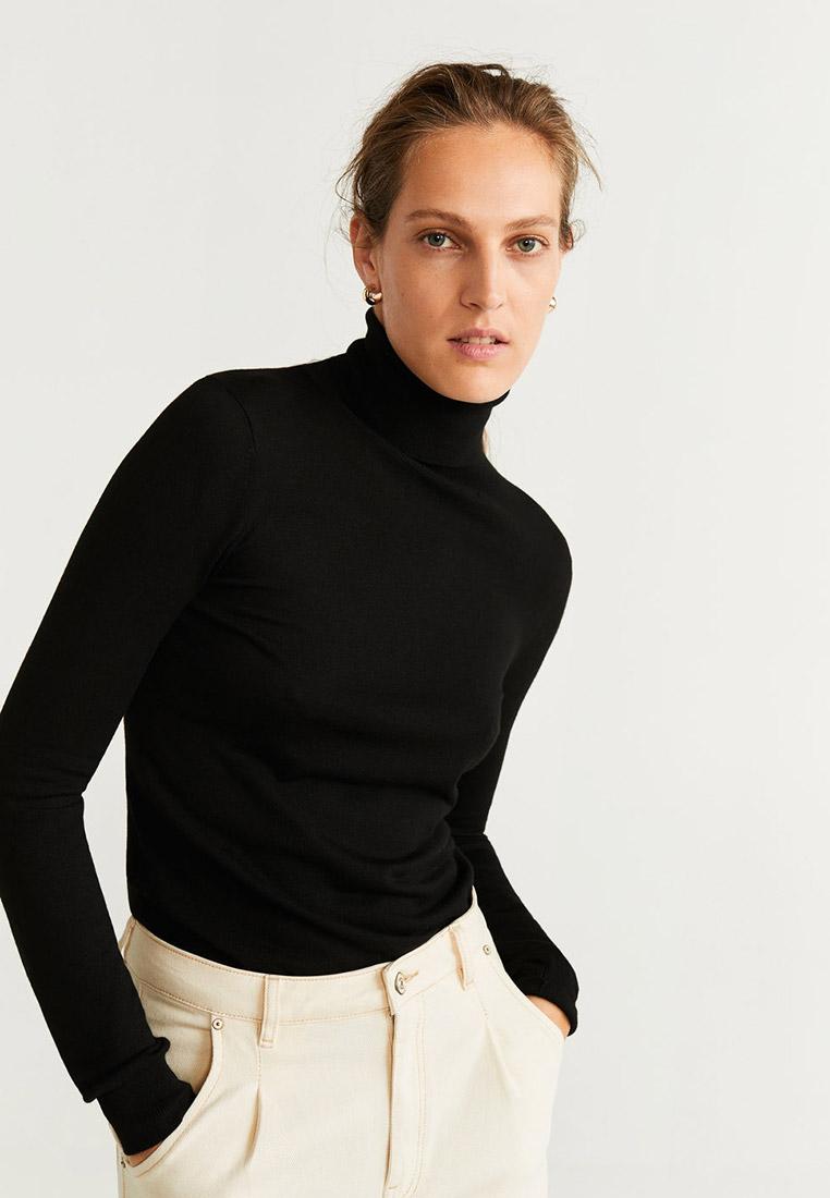 Водолазка, Mango, цвет: черный. Артикул: MA002EWGRKZ9. Одежда / Джемперы, свитеры и кардиганы