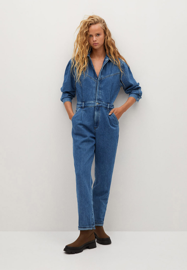 Комбинезон джинсовый Mango - DENIM70 за 6 499 ₽. в интернет-магазине Lamoda.ru