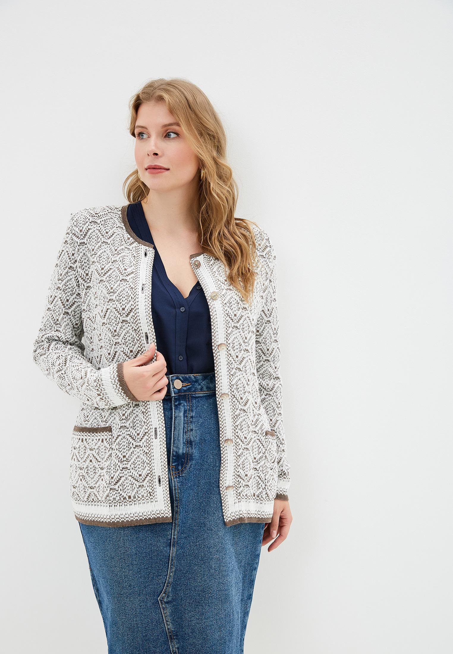 Кардиган, Milana Style, цвет: бежевый. Артикул: MI038EWGBAW1. Одежда / Джемперы, свитеры и кардиганы
