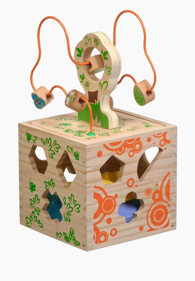 Игрушки из дерева Игрушка Логический кубик
