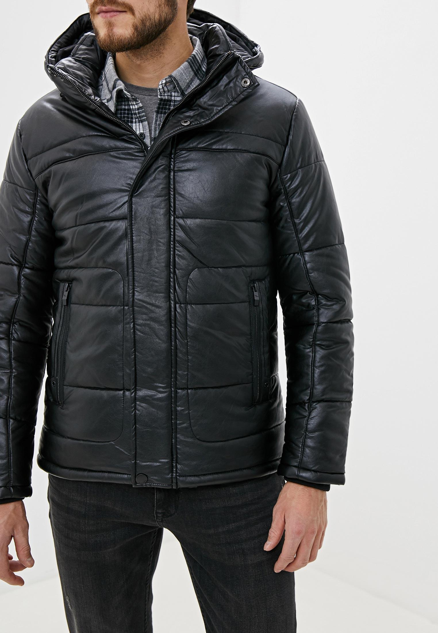 Куртка утепленная, Colin's, цвет: черный. Артикул: MP002XM07WNP. Одежда / Верхняя одежда / Кожаные куртки