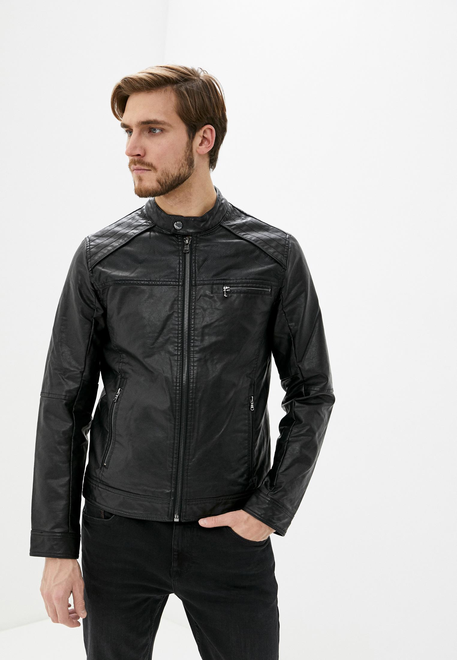 Куртка кожаная, Colin's, цвет: черный. Артикул: MP002XM0QRZB. Одежда / Верхняя одежда / Кожаные куртки