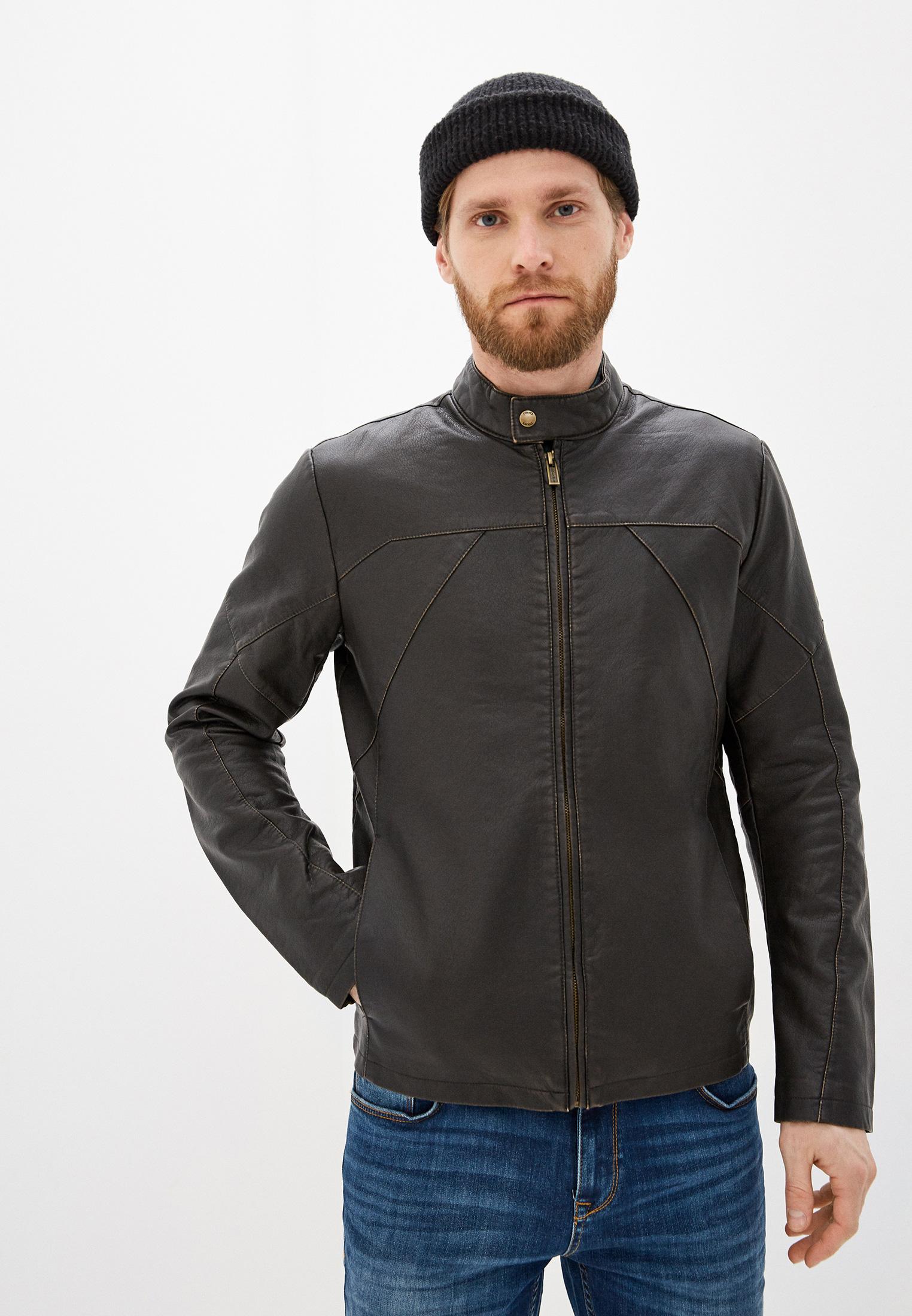 Куртка кожаная, Colin's, цвет: коричневый. Артикул: MP002XM0QRZC. Одежда / Верхняя одежда / Кожаные куртки