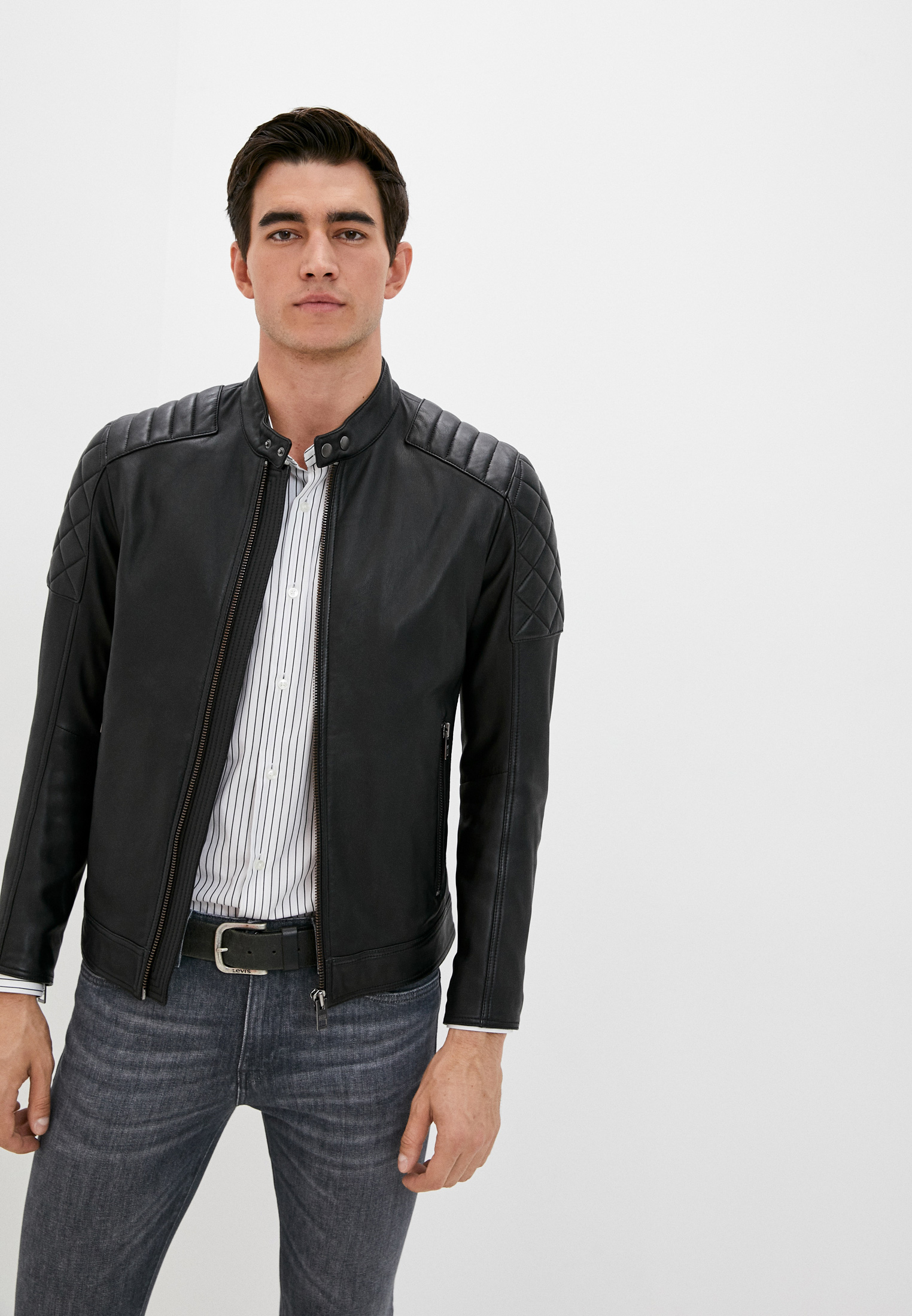Куртка кожаная Boss Jeean 1 за 54 000 ₽. в интернет-магазине Lamoda.ru