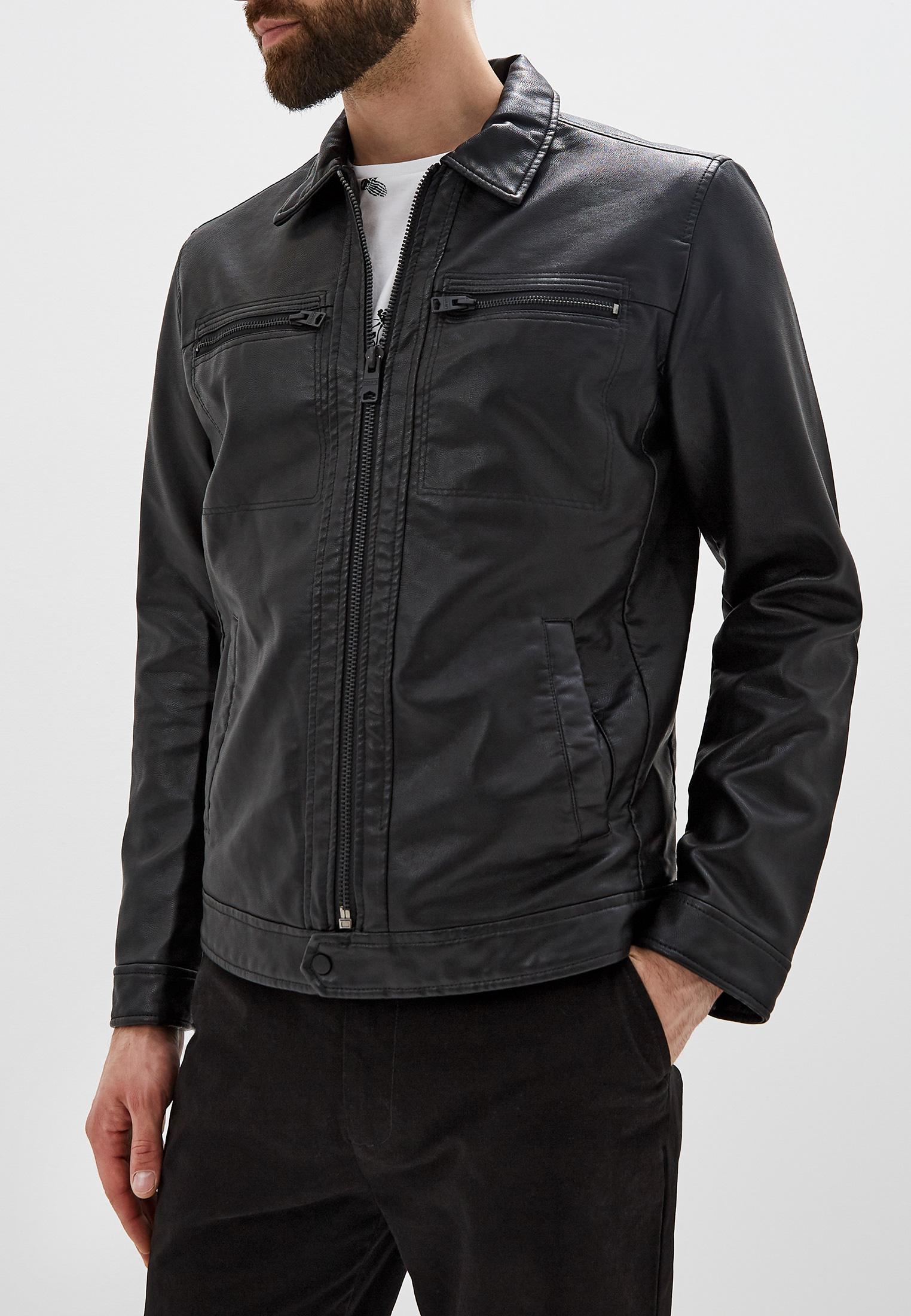 Куртка кожаная, Colin's, цвет: черный. Артикул: MP002XM0SU6S. Одежда / Верхняя одежда / Кожаные куртки