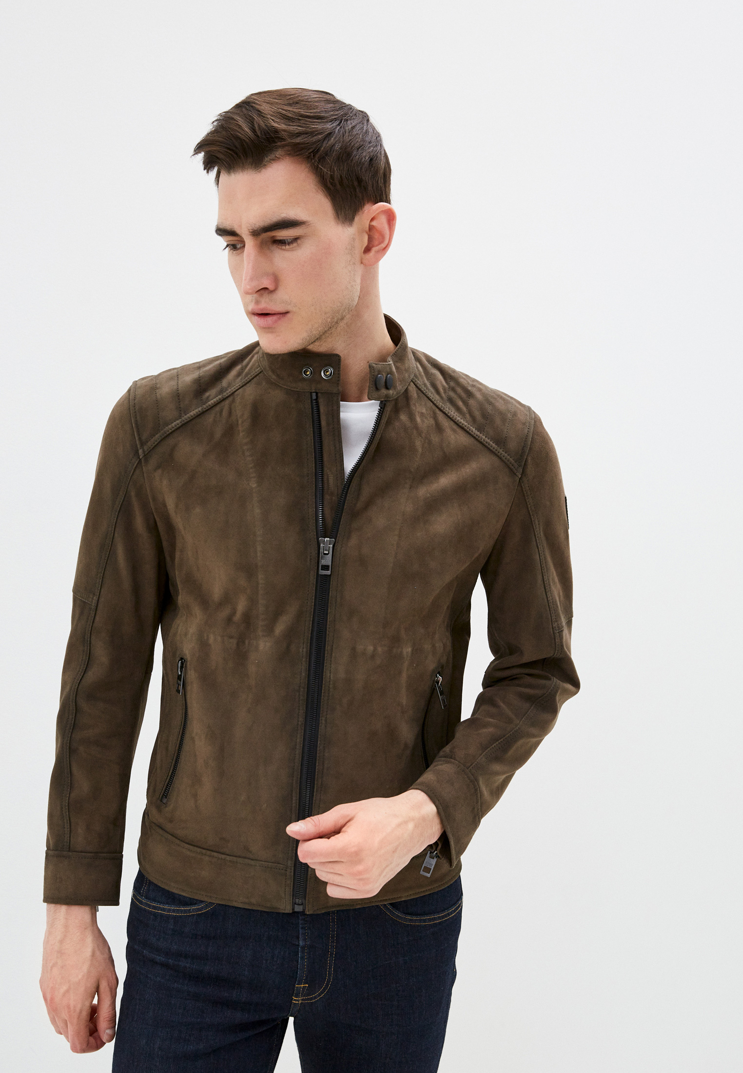 Boss Куртка кожаная Jetrik
