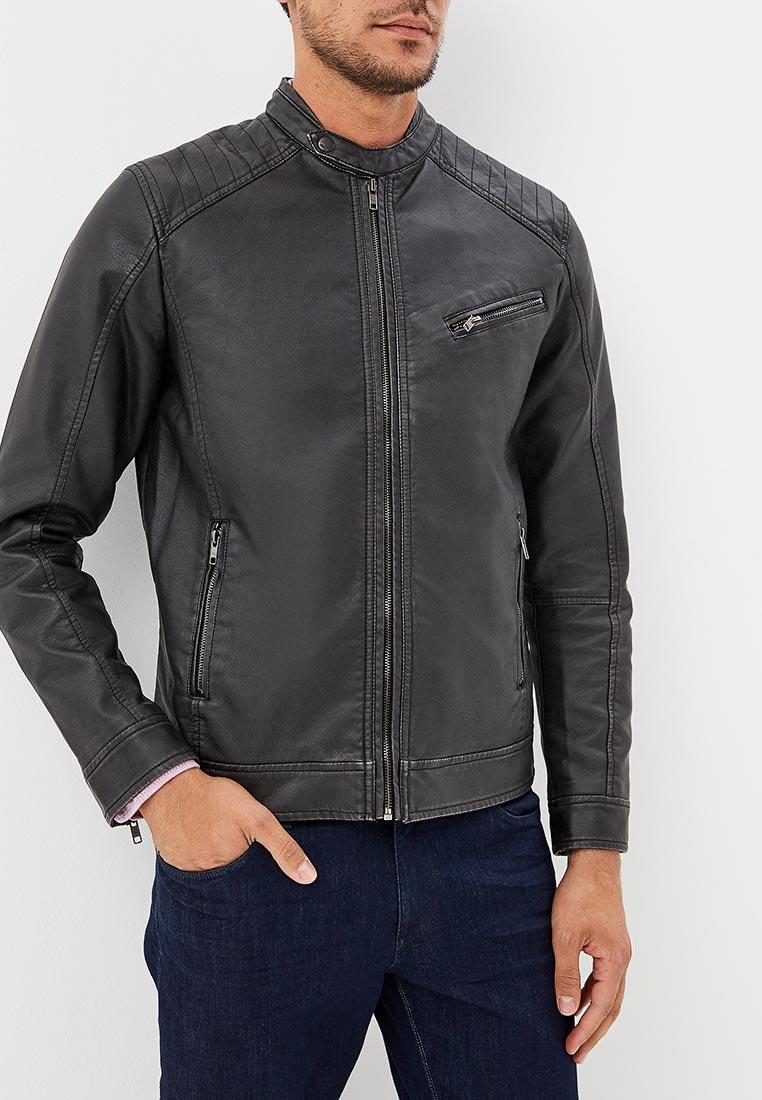 Куртка кожаная, Colin's, цвет: черный. Артикул: MP002XM23VIX. Одежда / Верхняя одежда / Кожаные куртки