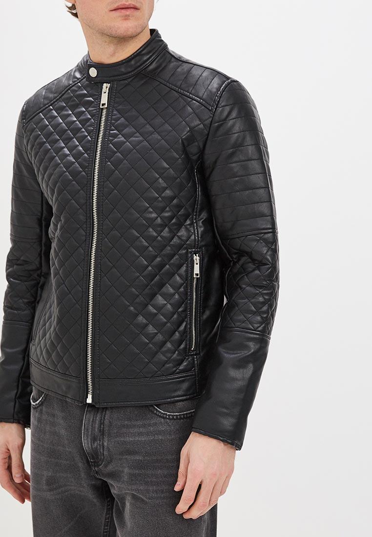 Куртка кожаная, Colin's, цвет: черный. Артикул: MP002XM248PP. Одежда / Верхняя одежда / Кожаные куртки