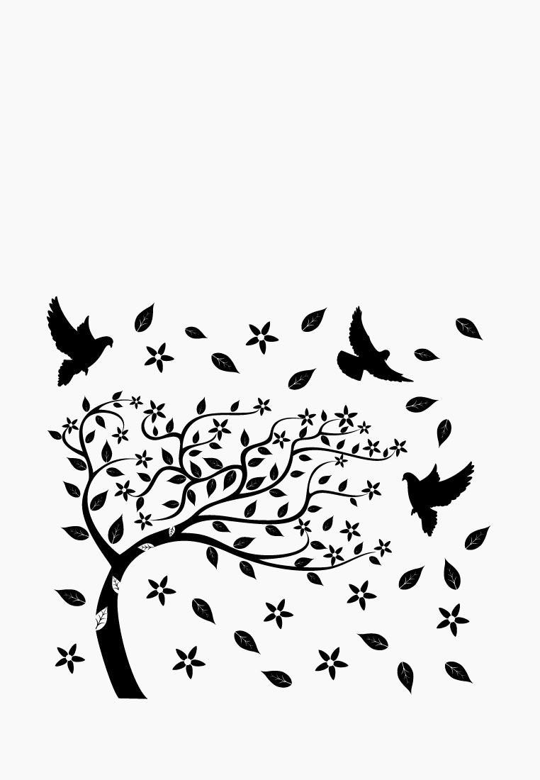 Наклейка декоративная Decoretto Дерево на ветру купить за ...