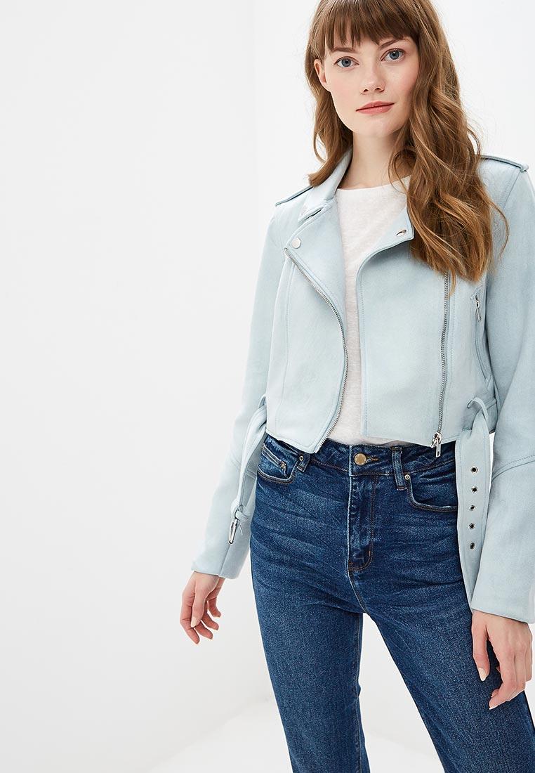 Куртка кожаная, Befree, цвет: голубой. Артикул: MP002XW01INC. Одежда / Верхняя одежда / Косухи