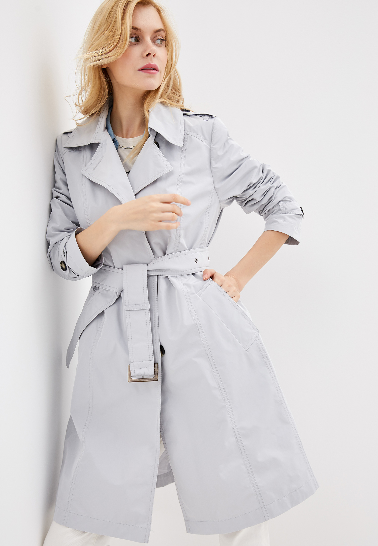 Плащ, Dixi-Coat, цвет: серый. Артикул: MP002XW01QC7. Одежда