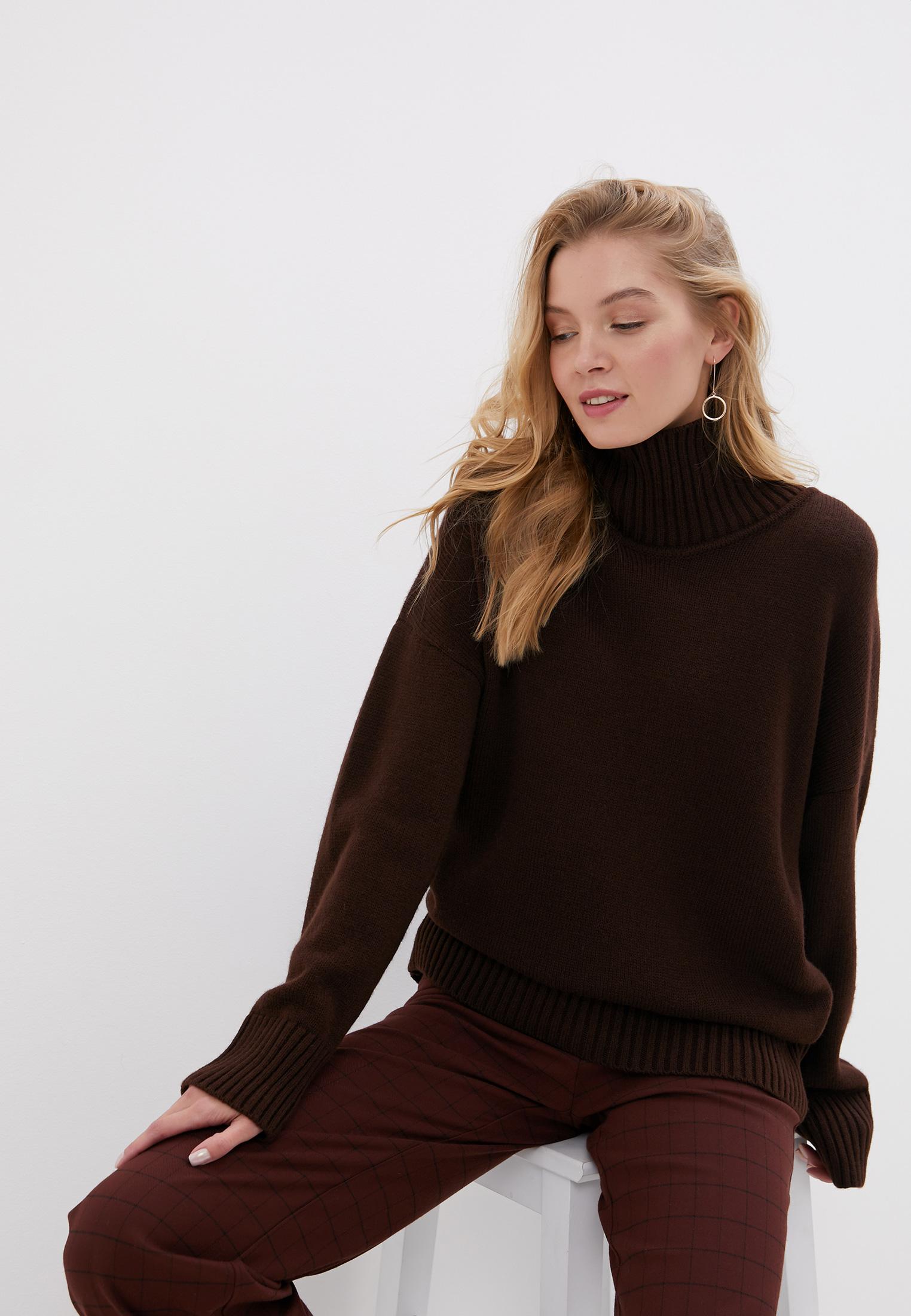 Свитер, Victoria Kuksina, цвет: коричневый. Артикул: MP002XW0DHKV. Одежда / Джемперы, свитеры и кардиганы
