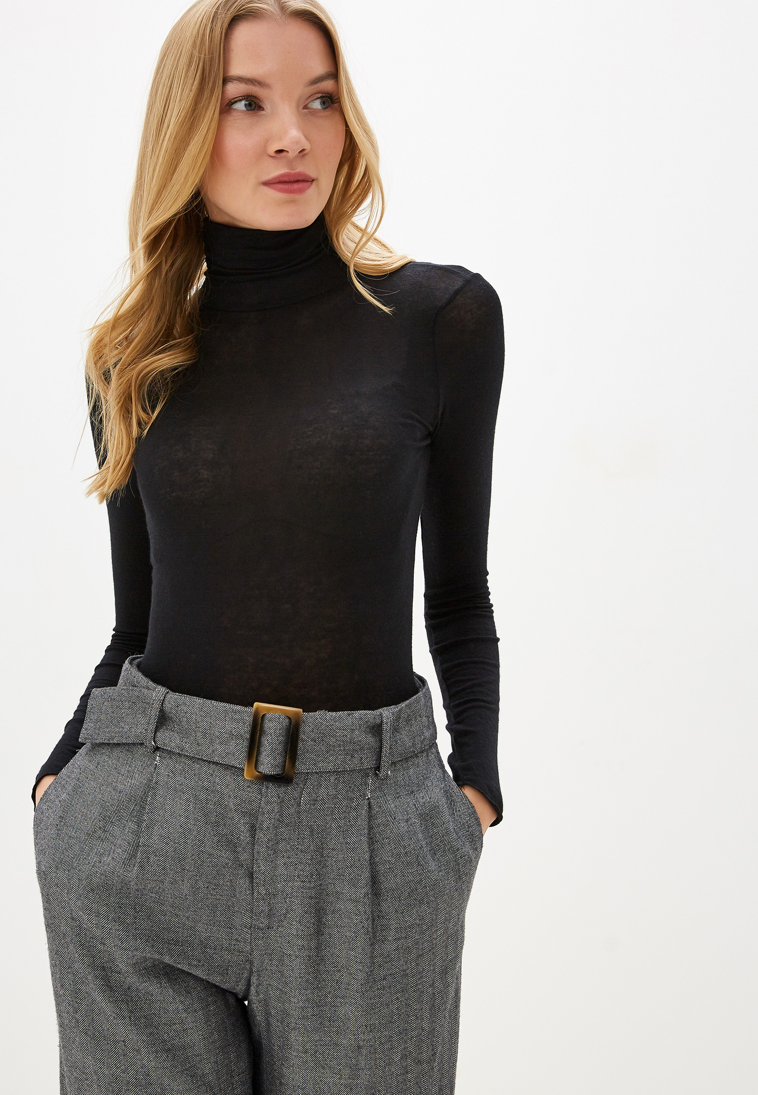 Водолазка, Intimissimi, цвет: черный. Артикул: MP002XW0E9WN. Одежда / Джемперы, свитеры и кардиганы