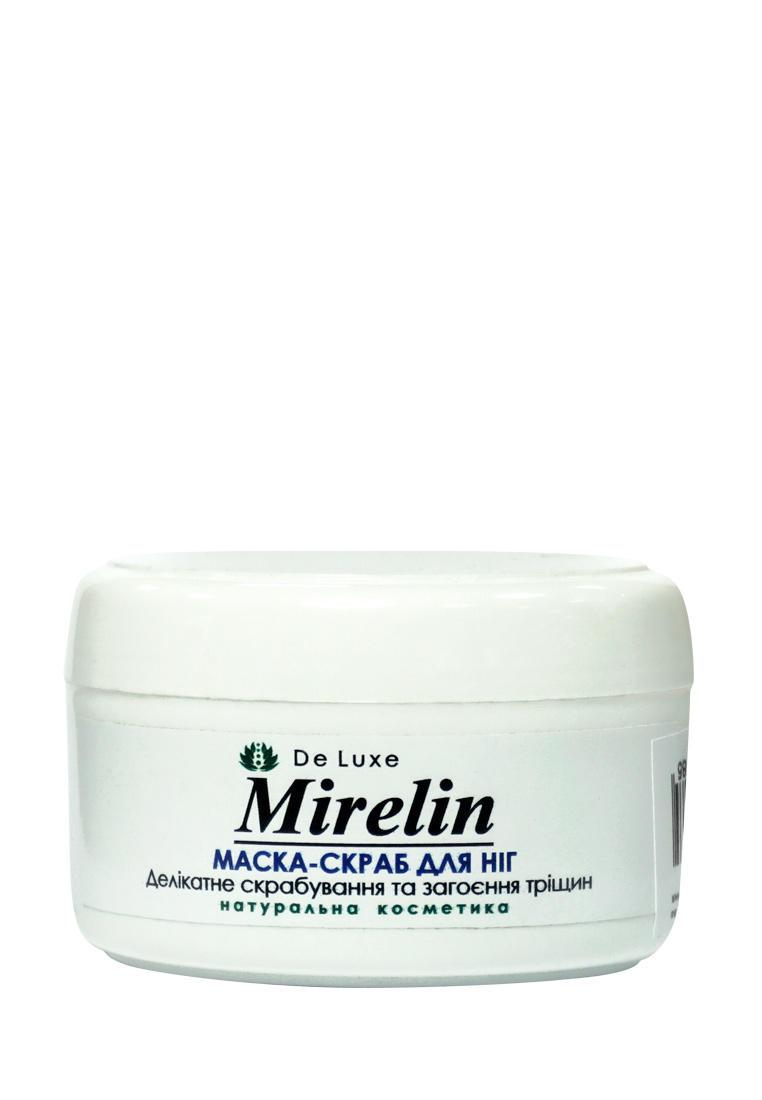Mirelin Маска для ног Лён деликатное скрабирование и заживление трещин, 50 г
